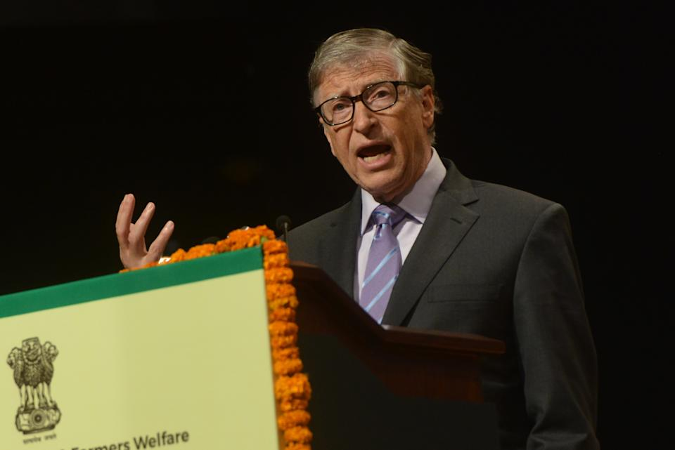 NEW DELHI, INDIA  NOVEMBER 18: American business magnate, Bill Gates clicked at a event in New Delhi. (Photo by K Asif/India Today Group/Getty Images)