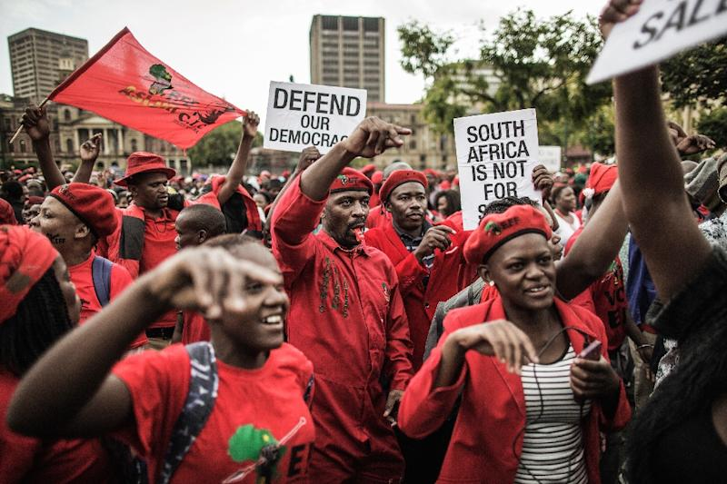 Tens of thousands of South Africans have staged protests in recent weeks demanding President Jacob Zuma stand down