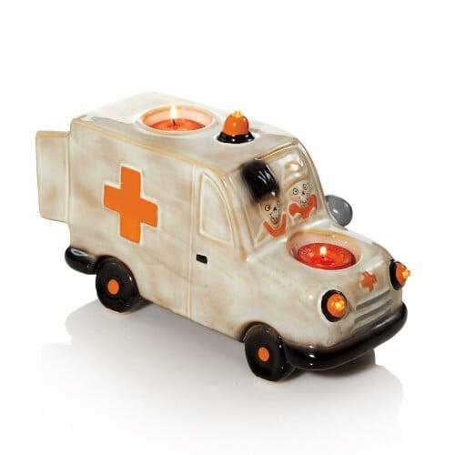 <p>Hop in! This <span>Boneys to the Rescue Votive/Tea Light Candle Holder</span> ($42) is off to the cemetery.</p>