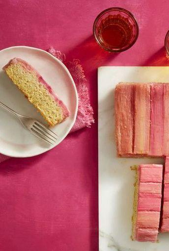 """<p>This cake looks way trickier to make than it actually does, and it has a unique flavor profile that sets it apart from other more typical desserts. </p><p><strong><em><a href=""""https://www.womansday.com/food-recipes/food-drinks/a19810598/rhubarb-and-almond-upside-down-cake-recipe/"""" rel=""""nofollow noopener"""" target=""""_blank"""" data-ylk=""""slk:Get the Rhubarb and Almond Upside-Down Cake recipe."""" class=""""link rapid-noclick-resp"""">Get the Rhubarb and Almond Upside-Down Cake recipe.</a></em></strong></p>"""