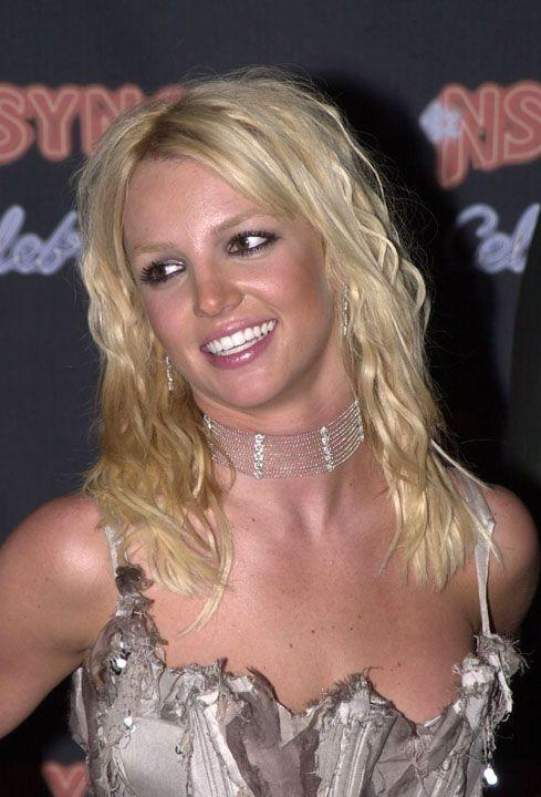 <p>For her boyfriend-at-the-time Justin Timberlake's (!) album release party in 2001, Brit kept it simple with wavy blonde hair.</p>