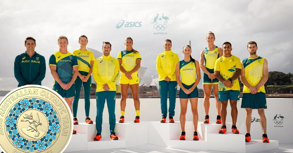 Australian Olympians and the new $2 coin with the surfing kangaroo