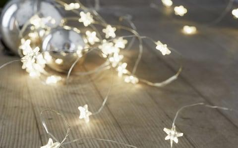 Star Fairy Lights - Credit: The White Company