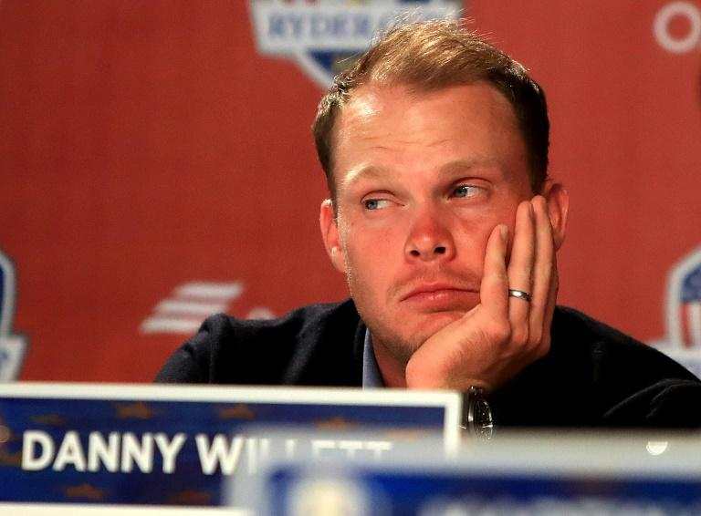 Danny Willett of Europe looks on during a press conference after being defeated by the United States during singles matches of the 2016 Ryder Cup at Hazeltine National Golf Club on October 2, 2016 in Chaska, Minnesota