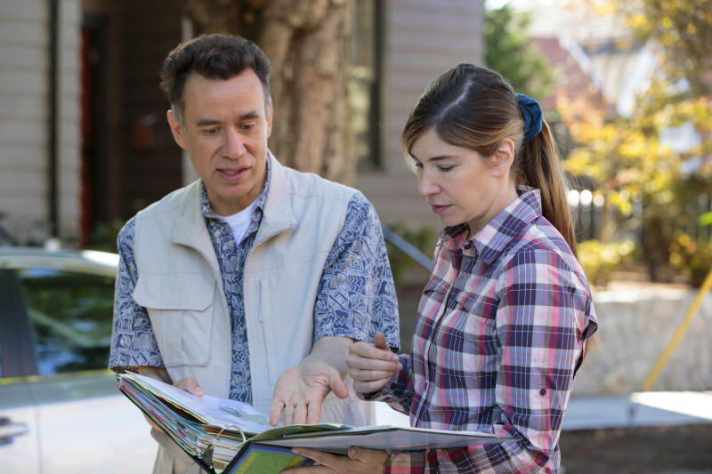"""This image released by IFC shows Fred Armisen, left, and Carrie Brownstein in a scene from """"Portlandia,"""" airing Thursdays at 10 p.m. EST (Augusta Quirk/IFC via AP)"""