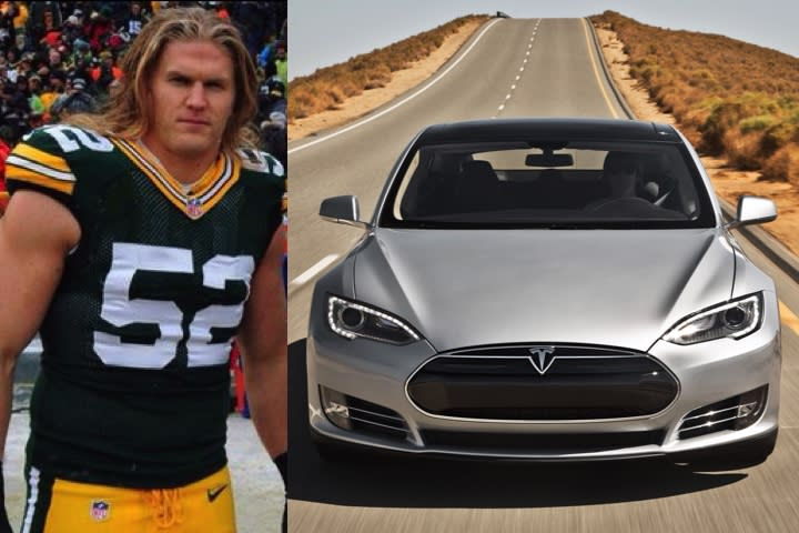Photo of Clay Matthews III Tesla Car - car
