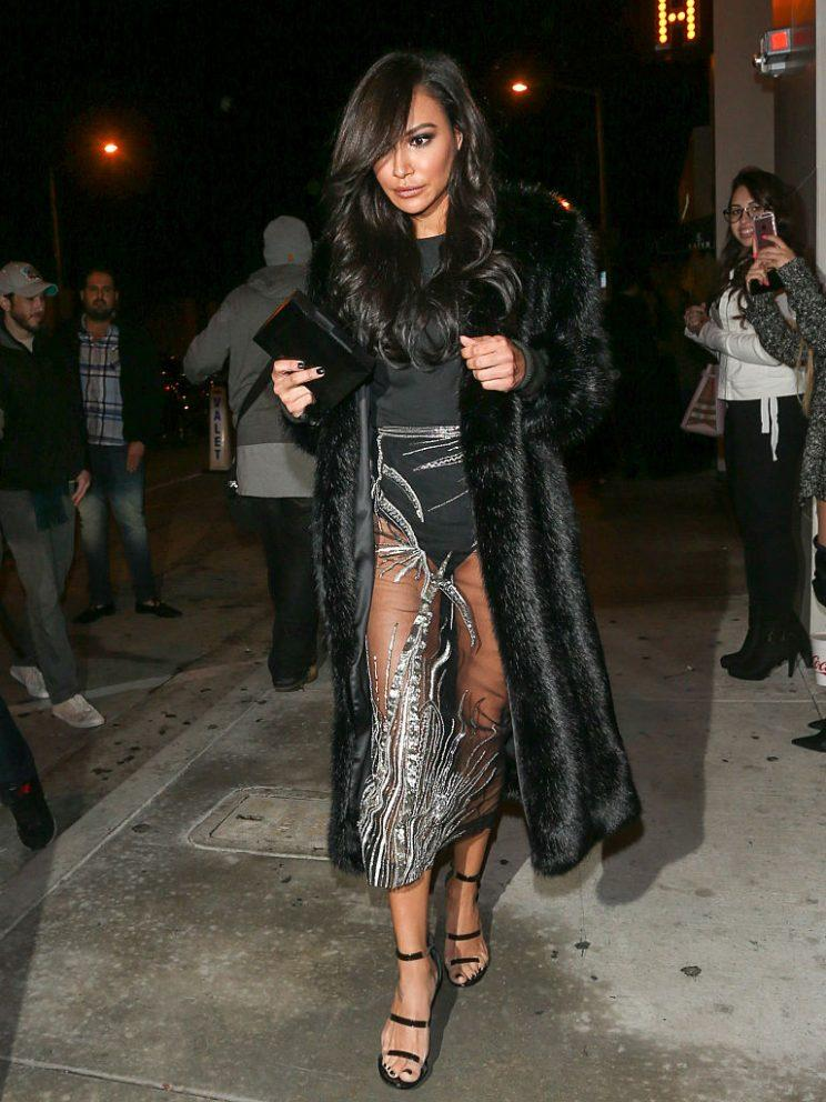 72c3e6e05251d Naya Rivera Talks Invisible Skirt, Says Her Style Is 'Sexy' But Classy