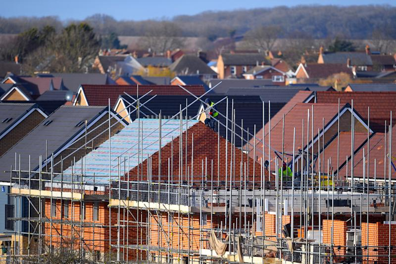 EMBARGOED TO 0001 MONDAY MARCH 25 File photo dated 01/02/18 of houses under construction. More than a million homes could be built on brownfield land, helping to meet housing demand and regenerate towns and cities, campaigners say.