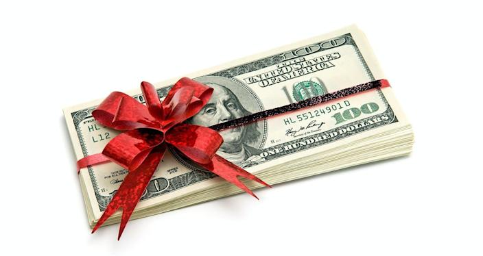 """<span class=""""caption"""">A gift of cash may be just the right thing.</span> <span class=""""attribution""""><span class=""""source"""">Cash gift via www.shutterstock.com</span></span>"""
