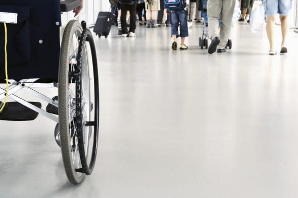 Wheelchair in airport