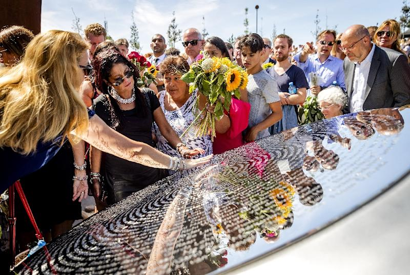 The unveiling of the National Monument for the MH17 victims in Vijfhuizen, in 2017