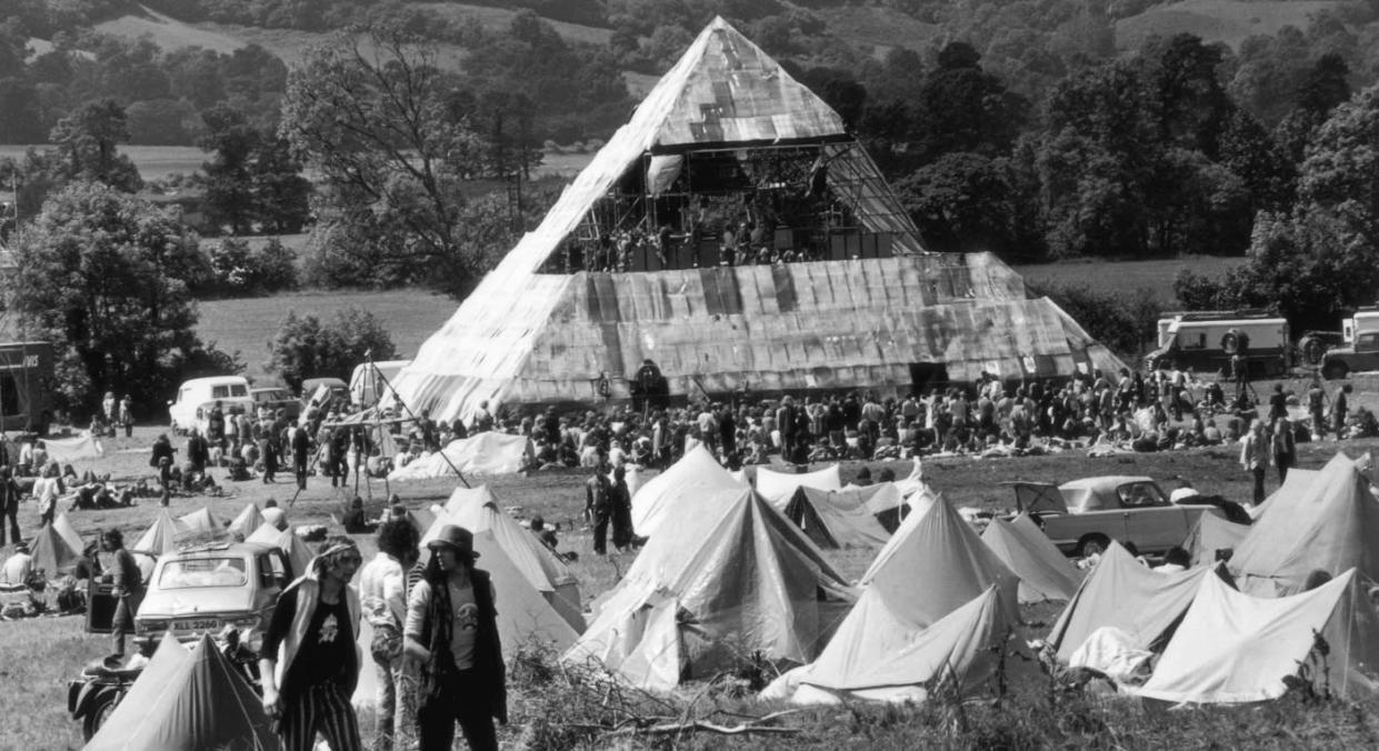 Glastonbury's iconic Pyramid Stage made its first appearance in 1971 (Getty)