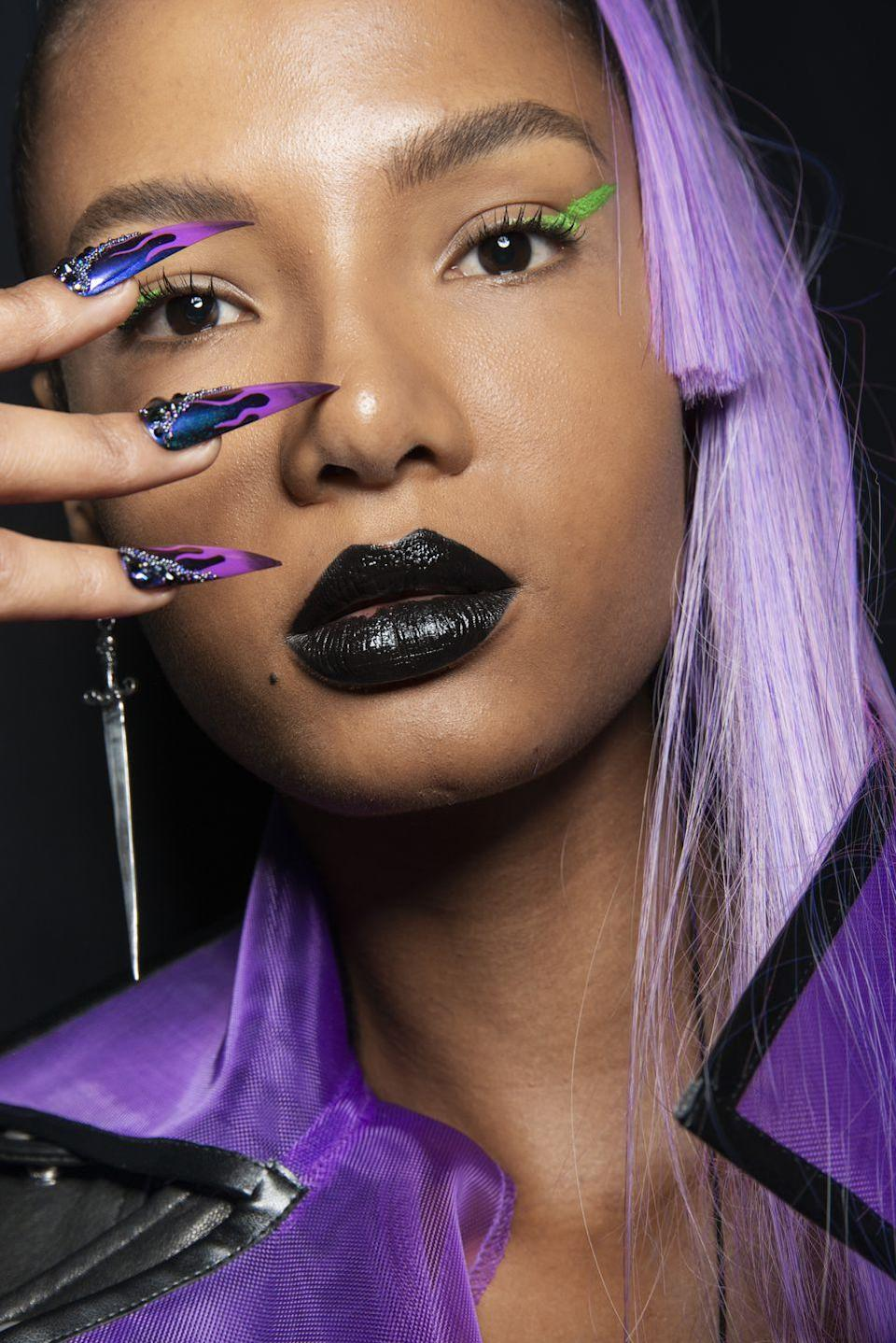 <p>If Disney Villains were also Sephora VIB Rouge members you'd get the high-impact look from The Blonds. We've never seen a Disney villain wear electric neon eyeliner and black lips-but we'll take it.</p>