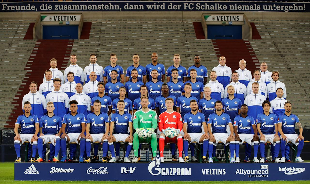 Soccer Football - FC Schalke 04 Photocall - Gelsenkirchen, Germany - July 12, 2017   Official team picture of Germany's first division Bundesliga squad Schalke 04 at the Veltins Arena   REUTERS/Wolfgang Rattay