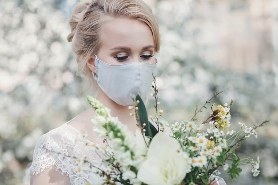 face mask wedding