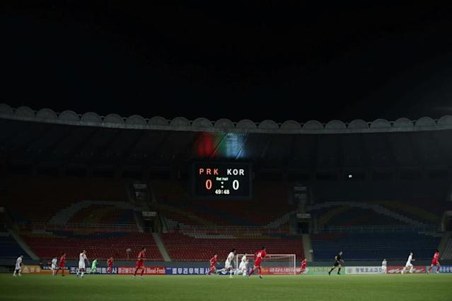The match was a goalless draw played in front of empty stands (AFP Photo/handout)