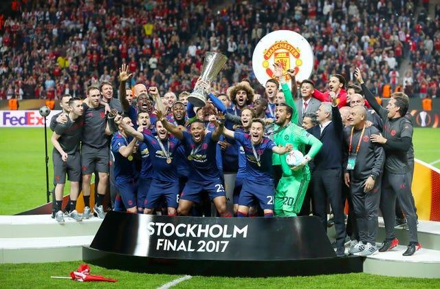 Manchester United's last trophy was their Europa League triumph in 2017