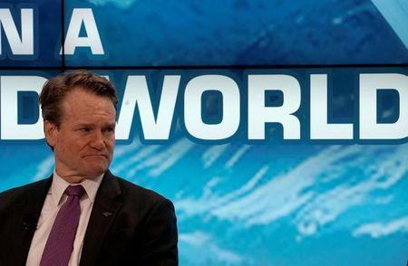 Brian T. Moynihan, Chairman and Chief Executive Officer of the Bank of America Corporation, attends the World Economic Forum (WEF) annual meeting in Davos, Switzerland, January 23, 2018. REUTERS/Denis Balibouse