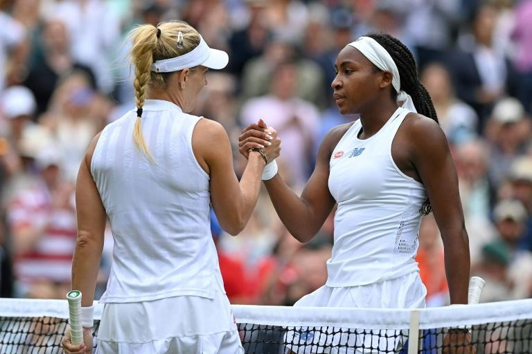 Angelique Kerber is three wins away from winning her second Wimbledon title after beating Coco Gauff 6-4, 6- in their Last 16 clash