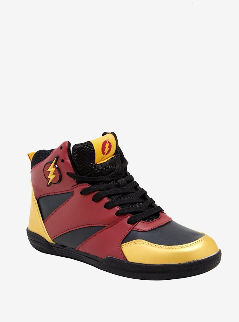 DC The Flash Red Basketball Sneakers (Photo: Hot Topic)