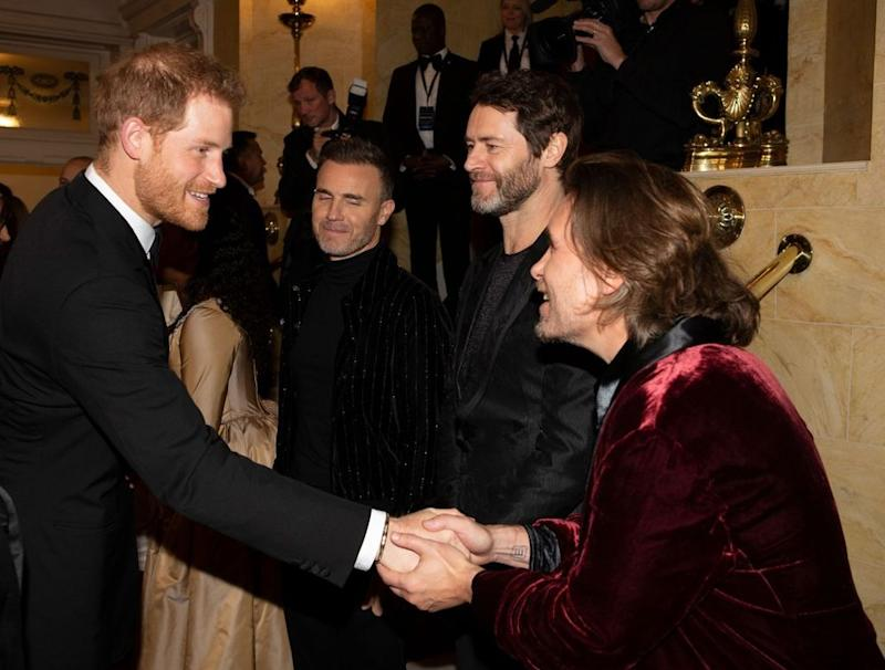 Prince Harry with members of Take That | WPA Pool/Getty