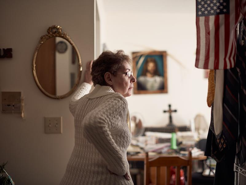 Michelle Bassaro, a Trump supporter who voted for the Democratic congressional candidate in the midterms, at home in Nanty Glo, Pa., Nov. 22, 2019. (Ross Mantle/The New York Times)