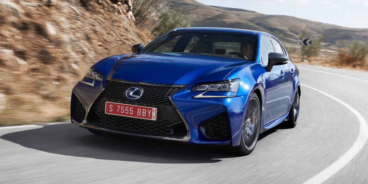 """<p><strong>Lexus GS</strong><br /><strong>Price as tested: </strong>$58,858<br /><strong>Highlights: </strong>Good combo of ride, handling, roominess and quietness.<br /><strong>Lowlights: </strong>Infotainment has """"distracting"""" mouselike controller.<br />(Road & Track) </p>"""