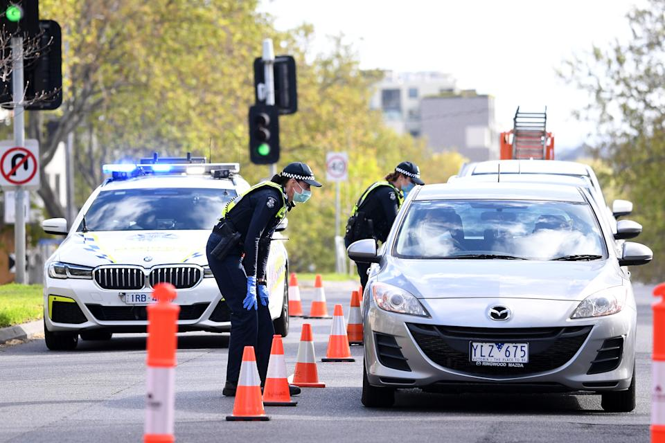Victoria Police have locked down the city in anticipation of further unrest. Source: AAP