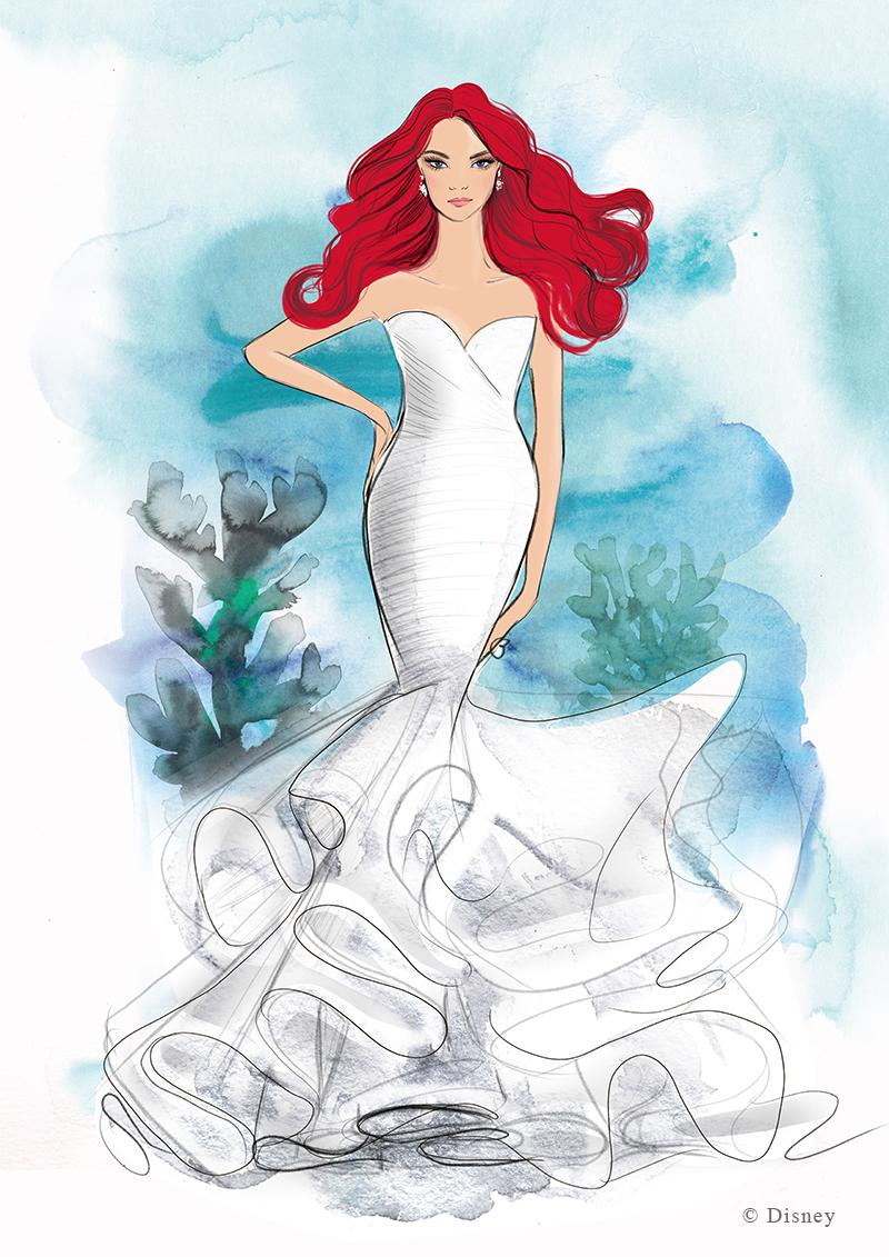 """A collection of wedding dresses inspired by Disney princesses, including """"The Little Mermaid"""" star Ariel, is on the way. (Photo: Disney)"""