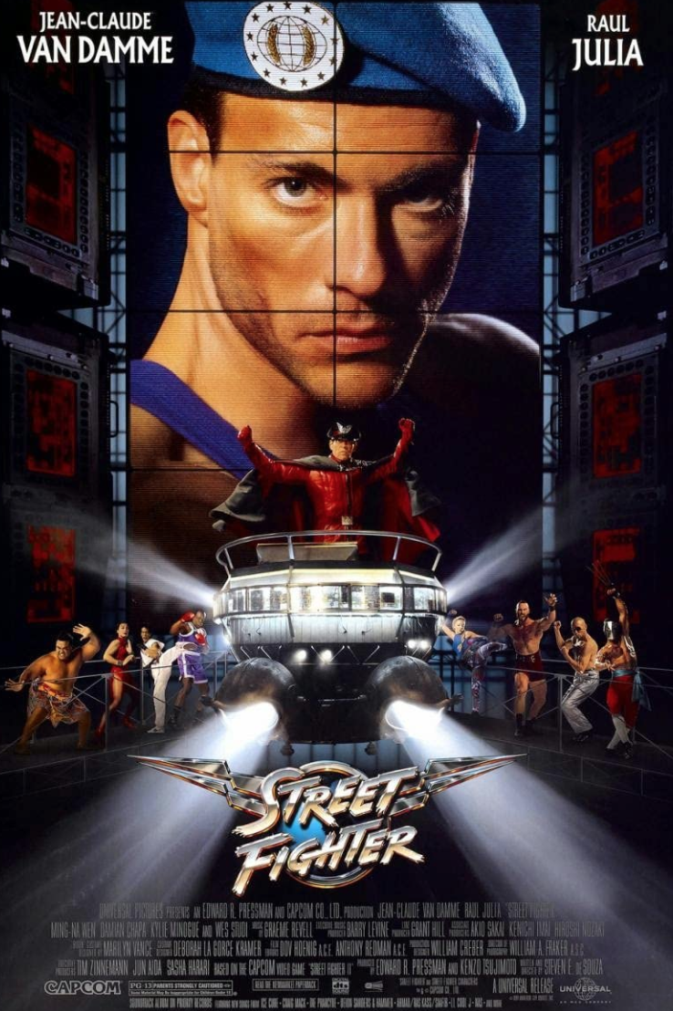 "<p>Jean-Claude Van Damme was the literal inspiration for the video game<em> Mortal Kombat</em> (so, really, <em>Mortal Kombat</em> is a video game based on a movie). The fact that Van Damme is even in <em>Street Fighter</em> gives it a spot on this list. Legend.</p><p><a class=""link rapid-noclick-resp"" href=""https://www.amazon.com/Street-Fighter-Jean-Claude-Van-Damme/dp/B00AI3TA2S/ref=sr_1_2?dchild=1&keywords=street+fighter&qid=1617721718&s=instant-video&sr=1-2&tag=syn-yahoo-20&ascsubtag=%5Bartid%7C2139.g.36026663%5Bsrc%7Cyahoo-us"" rel=""nofollow noopener"" target=""_blank"" data-ylk=""slk:STREAM IT HERE"">STREAM IT HERE</a></p>"