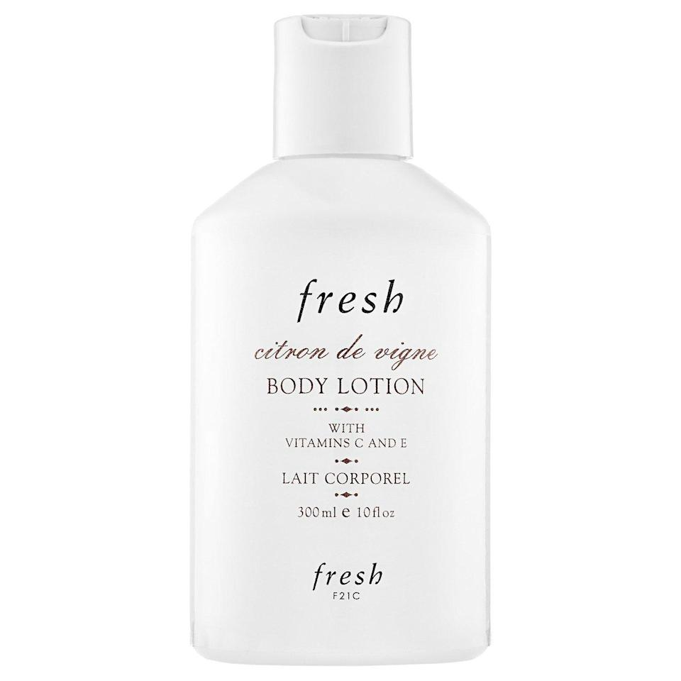 """<p><strong>Fresh</strong></p><p>sephora.com</p><p><strong>$23.00</strong></p><p><a href=""""https://go.redirectingat.com?id=74968X1596630&url=https%3A%2F%2Fwww.sephora.com%2Fproduct%2Fcitron-de-vigne-body-lotion-P259801&sref=https%3A%2F%2Fwww.redbookmag.com%2Fbeauty%2Fg35003747%2Fbody-lotions-with-the-best-scent%2F"""" rel=""""nofollow noopener"""" target=""""_blank"""" data-ylk=""""slk:Shop Now"""" class=""""link rapid-noclick-resp"""">Shop Now</a></p><p>The scent behind this beloved (and long-lasting) lotion was inspired by France's Champagne region. Slather it on before you head out the door to transform your morning commute into a more calming experience.</p>"""