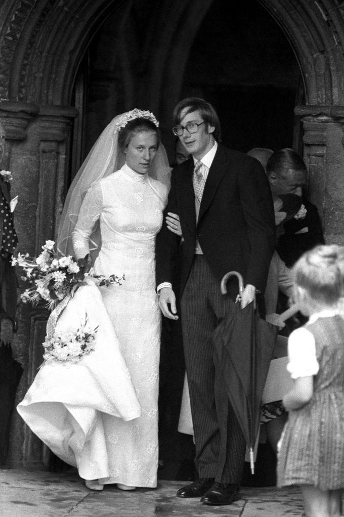 "<p><strong>Wedding date: </strong>July 8, 1972</p><p><strong>Wedding tiara:</strong> Interestingly enough, Brigitte <a href=""http://orderofsplendor.blogspot.com/2012/07/wedding-wednesday-duchess-of.html"" rel=""nofollow noopener"" target=""_blank"" data-ylk=""slk:didn't wear a jeweled tiara"" class=""link rapid-noclick-resp"">didn't wear a jeweled tiara</a> on her wedding day to Prince Richard of Gloucester. Instead, she wore a crown of flowers in her hair to secure her veil. </p>"
