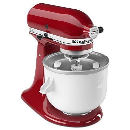 """<p><strong>KitchenAid</strong></p><p>amazon.com</p><p><strong>$99.87</strong></p><p><a href=""""https://www.amazon.com/dp/B0002IES80?tag=syn-yahoo-20&ascsubtag=%5Bartid%7C1782.g.31250312%5Bsrc%7Cyahoo-us"""" rel=""""nofollow noopener"""" target=""""_blank"""" data-ylk=""""slk:BUY NOW"""" class=""""link rapid-noclick-resp"""">BUY NOW</a></p><p>If you want to try your hand at ice cream making and have a KitchenAid stand mixer, this attachment is key. It connects to your stand mixer like any other bowl and alleviates the need to buy an entirely new appliance. </p>"""