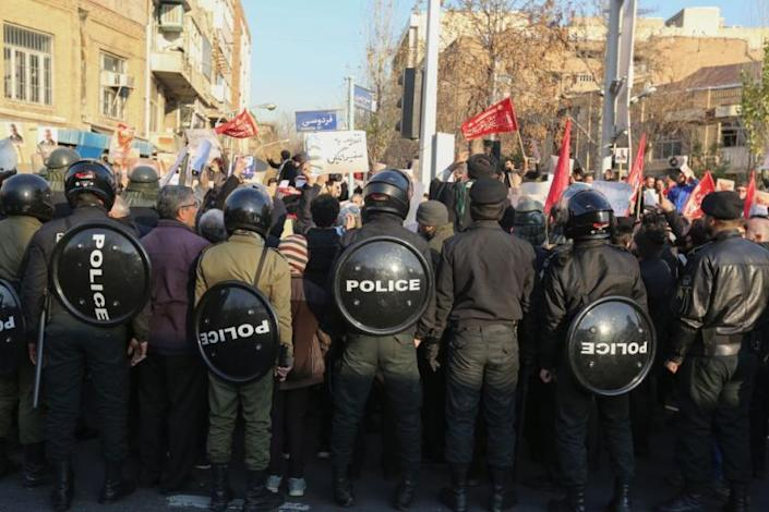 Image result for images of Protest in Iran on Jan. 13, 2020""