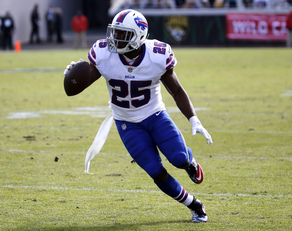 LeSean McCoy is the one no-doubt fantasy asset on the Bills' roster. (AP Photo/Stephen B. Morton)