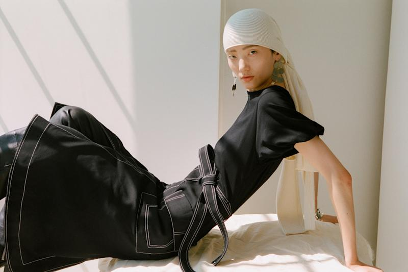 """Lim's new collaboration with Woolmark includes merino """"denim"""" and pieces made from 100% natural merino wool."""