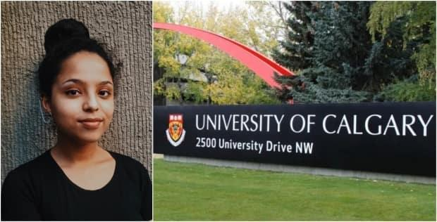 First year student Abi Debebe moved from Ethiopia to Calgary to study computer science at the University of Calgary. She has since been informed all of her classes have gone from in-person to online. (CBC - image credit)
