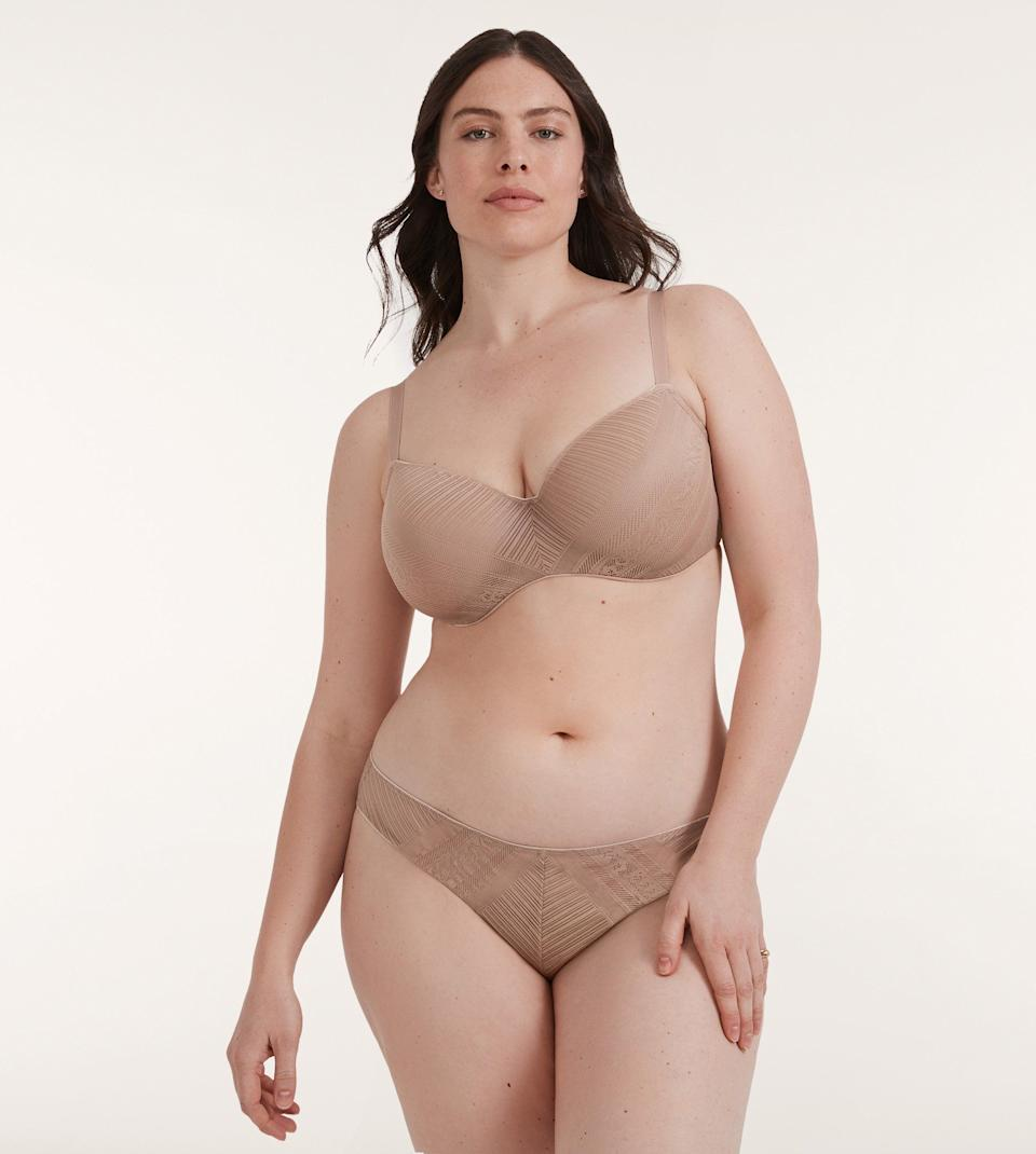 """<a href=""""https://www.thirdlove.com/"""" target=""""_blank"""" rel=""""noopener noreferrer"""">Thirdlove</a> has become well-known for its size-inclusive offerings, with bras ranging from A to I cups. And while the company doesoffer some of the more traditional lacy lingerie styles, it also has plenty of minimal options, like this Everyday Lace set.<br /><br />Bra available in sizes 30A to 48I; underwear available in sizes XS to XXXL.<br /><br /><strong>Get the Thirdlove <a href=""""https://www.thirdlove.com/products/everyday-lace-t-shirt-bra-taupe"""" target=""""_blank"""" rel=""""noopener noreferrer"""">everyday lace bra for $76</a> and matching <a href=""""https://www.thirdlove.com/products/everyday-lace-bikini-taupe"""" target=""""_blank"""" rel=""""noopener noreferrer"""">everyday lace bikini for $24.</a></strong>"""
