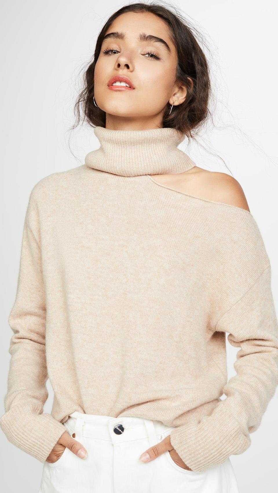 <p>This <span>PAIGE Raundi Sweater</span> ($259, plus use code FALL20) is undeniably cool.</p>