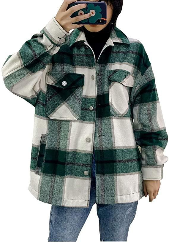 <p>This <span>Liengoron Oversize Shacket Jacket</span> ($38) is incredibly comfortable.</p>