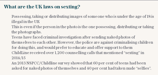 What are the UK laws on sexting?