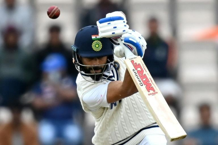 India captain Virat Kohli was 35 not out at tea on Saturday's second day of the World Test Championship final against New Zealand at Southampton