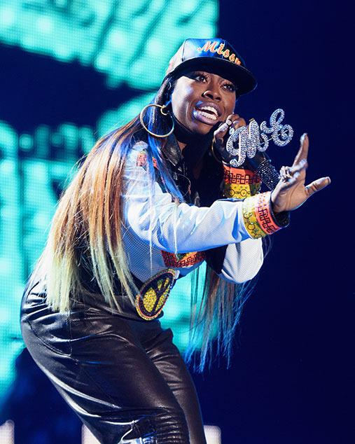 Chances are 2016 will be an even bigger year than 2015 for Missy Elliott, who isn't letting Graves disease get in the way of her future. You may remember she performed at the Super Bowl XLIX halftime show with Katy Perry on a medley of  <i>Get Ur Freak On</i>,  <i>Work It</i> and  <i>Lose Control</i>. It was the most-seen Super Bowl halftime show in NFL history, with 118.5 million viewers in the U.S. alone. Word throughout the year was that Missy was working on her seventh studio album,  <i>Block Party</i>, with Timbaland. On Nov. 12,  <i>WTF (Where They From)</i> featuring Pharrell Williams and its video were released, and were soon streamed 6.1 million times in the U.S., with 16 million additional views through YouTube. She also made guest appearances on singles by Jack Ü (Diplo, Skrillex), Ciara, and Pitbull, 21:03, Janet Jackson, Monica, and Laiyah.