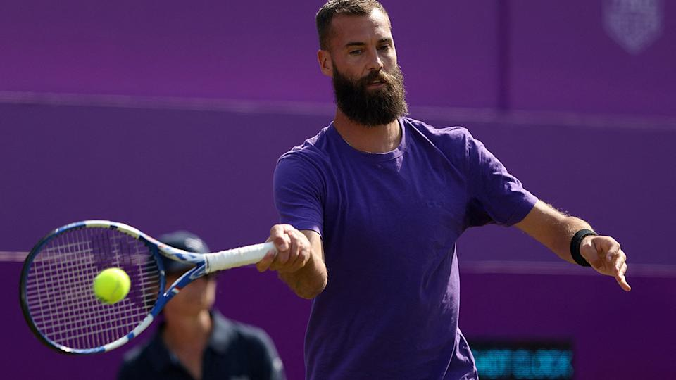 Benoit Paire's hot-headed tendencies have frequently landed the French player in hot water. (Photo by ADRIAN DENNIS/AFP via Getty Images)