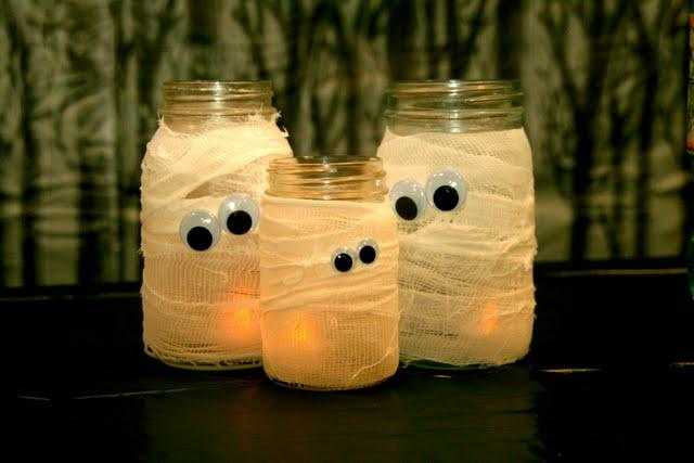 "<p>Put those pesky glass jars to good use with this fun <a href=""http://craftsredesigned.blogspot.co.uk/search/label/Halloween"">idea</a>.</p><p><i>[Photo: Craft Redesigned]</i></p>"