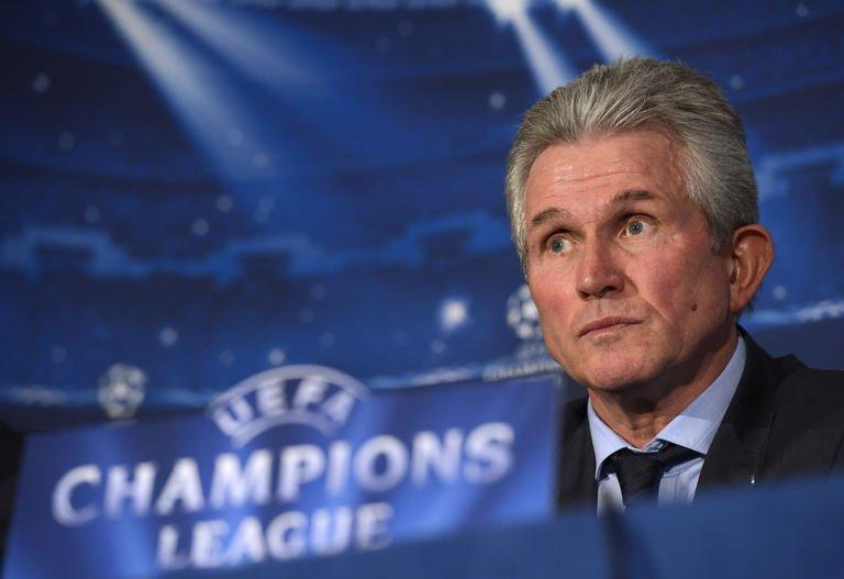 Bayern Munich's head coach Jupp Heynckes gives a press conference in London, on February 18, 2013