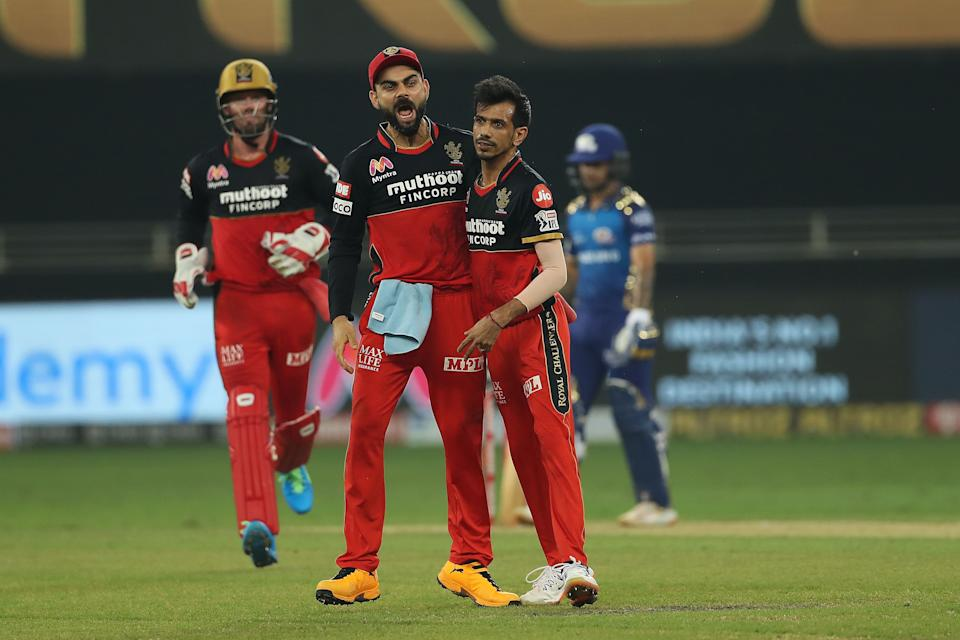 RCB are currently placed in the third position while MI are in the first place in the points table.