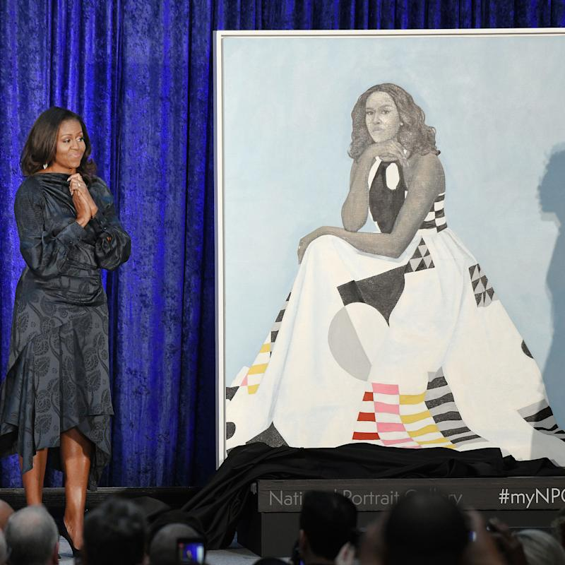 Michelle Obama Wears Milly in Her Official Portrait—Here's the Story Behind the Dress