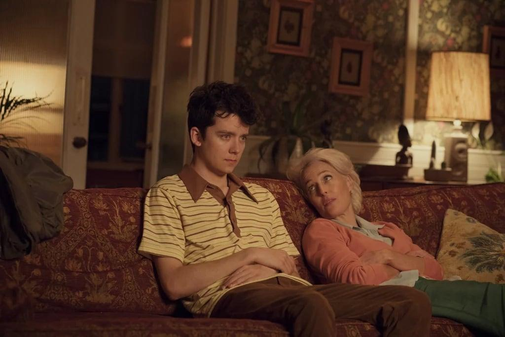 "<p>In <strong>Sex Education</strong> - starring Gillian Anderson and Asa Butterfield - an inexperienced high school student, who ironically has plenty of sexual knowledge thanks to his sex therapist mother, decides to team up with a bad girl and open an underground sex therapy clinic at school. It's hilariously implausible, it's insanely raunchy, it seems to <a href=""https://www.popsugar.com/entertainment/When-Sex-Education-Set-45686677"" target=""_blank"" class=""ga-track"" data-ga-category=""Related"" data-ga-label=""http://www.popsugar.com/entertainment/When-Sex-Education-Set-45686677"" data-ga-action=""In-Line Links"">take place in a mysterious vacuum of time</a>, and it's brilliant. Catch up on before <a href=""https://www.popsugar.com/entertainment/Sex-Education-Season-2-Netflix-45675941"" target=""_blank"" class=""ga-track"" data-ga-category=""Related"" data-ga-label=""http://www.popsugar.com/entertainment/Sex-Education-Season-2-Netflix-45675941"" data-ga-action=""In-Line Links"">season two</a> premieres in early 2020.</p> <p><a href=""http://www.netflix.com/title/80197526"" target=""_blank"" class=""ga-track"" data-ga-category=""Related"" data-ga-label=""http://www.netflix.com/title/80197526"" data-ga-action=""In-Line Links"">Watch <strong>Sex Education</strong> on Netflix</a>.</p>"