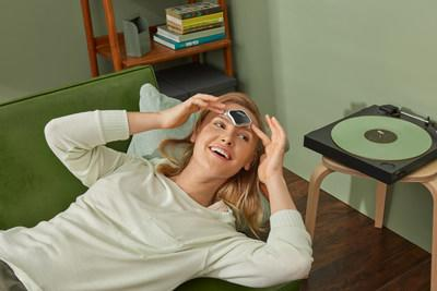 The device offers two distinct treatment options -- a 60-minute ACUTE setting that serves as an abortive treatment for pain relief at the onset of a migraine, which is clinically proven to stop or reduce migraine pain during an attack; and a 20-minute PREVENT setting for daily use to help prevent future episodes.